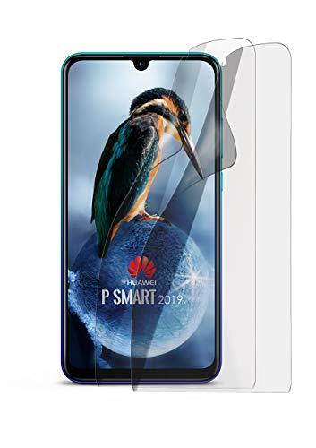 MoEx® Matte Anti Reflex Bildschirmschutzfolie passend für Huawei P Smart (2019) | Gegen Reflexionen und Fett-Finger - Entspiegelt