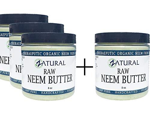 Organic Neem Butter-Coconut Oil, Neem Oil, Neem Leaf, Marula Oil, Kokum Butter, Rosemary (4 Pack)