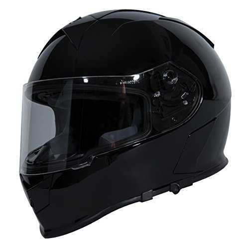 TORC T14B Bluetooth Integrated Mako Full Face Helmet (Gloss Black, Medium) by TORC