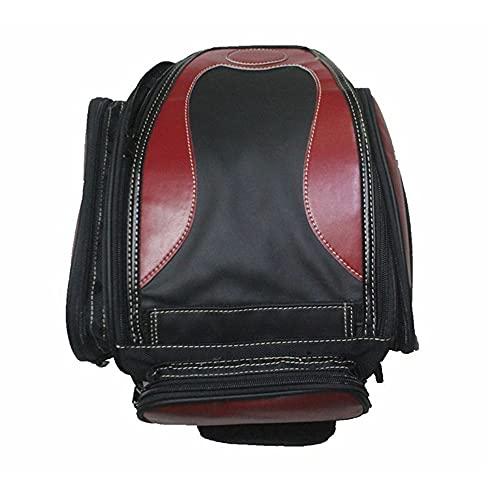 Mochila universal para moto, para casco, de viaje, color rojo