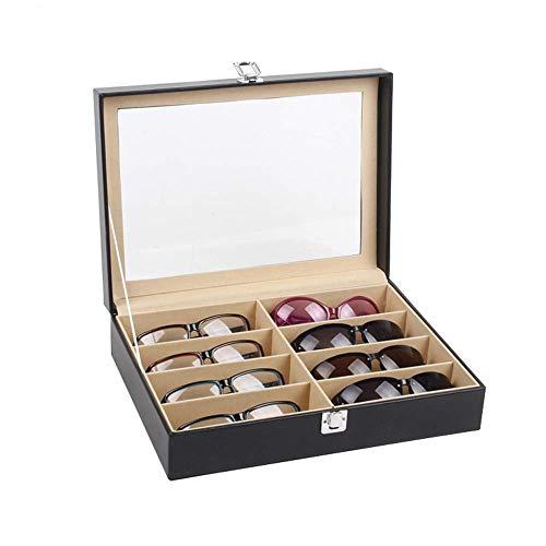 XYSQWZ Organisateur de Lunettes de Soleil à Lunettes Multiples, boîte de Collecte, lentille de boîte empilable de Stockage 8 emplacements (8 Compartiments)
