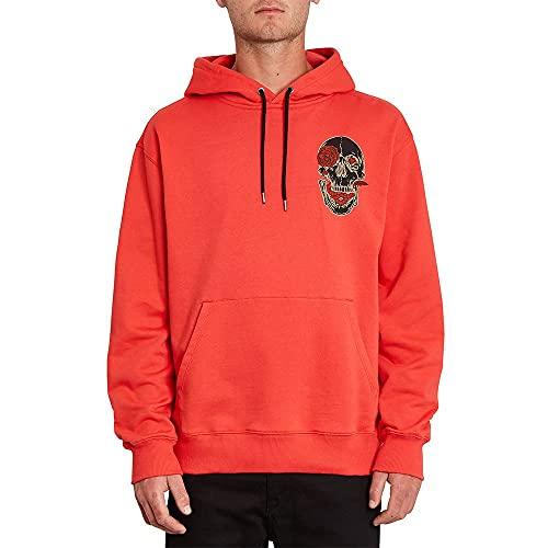 Volcom Fortifem - Sudadera con capucha para hombre, color rojo