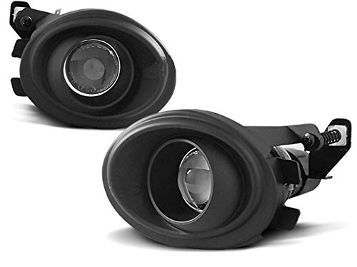 Faros antiniebla compatibles con BMW Serie 5 E39 E46 Proyector Todas las bombillas antiniebla RS-275, luces antiniebla delanteras, 1 par de luces antiniebla delanteras, luces deportivas negras