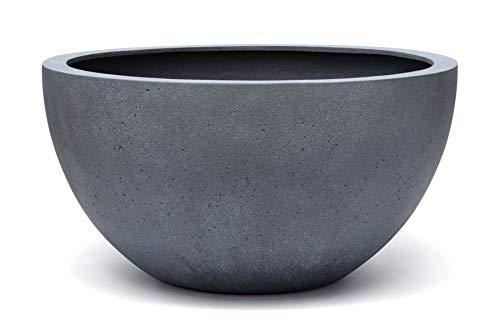 VAPLANTO® Pflanzkübel Low Egg Pot 30 Blei Grau Schale * 33 x 33 x 16 cm * 10 Jahre Garantie