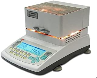 Torbal AGS60 Moisture Analyzer 250C - 0.01% Readability, 250W, 60g x 0.001g, Backlit Graphical LCD Display, USB, Heavy Duty Die-cast Metal Design
