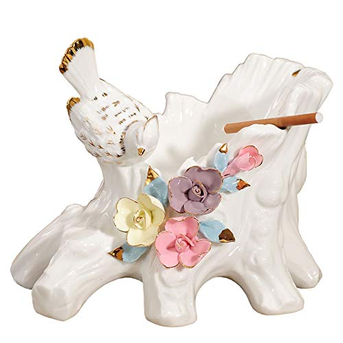 WQYHG Asbak van keramiek, voor op het bureau, praktisch, groot, voor woonkamer, kantoor, decoratie, geschenken, opbergen, bloempotten, 24 x 24 cm