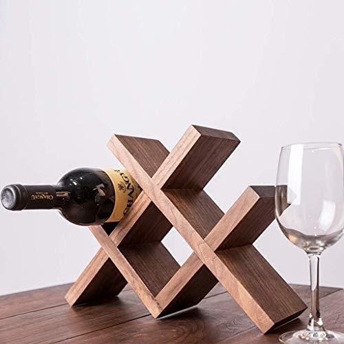 HJXSXHZ366 Estantería de Vino De tamaño de Varios bastidores de Madera del Vino/visualización Artes de la Tabla Estante de Soporte for Botellas/Vino Roble cm 32 x 10 x 24 Estante de Vino pequeño