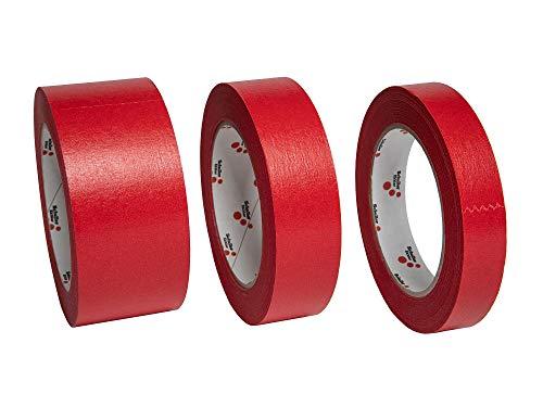 Schuller Eh'klar Premium Klebe-Abdeckband, 3-er Set (50, 30 und 19 mm, je 50m), imprägniertes wasserabweisendes Papierabdeckband, 4507