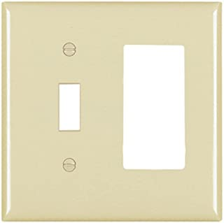 Legrand - Pass & Seymour Pass and Seymour TP126 Brown Combination Two Gang Toggle One Decorator Wall Plate, 2