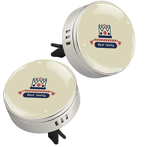 Crown Best Family Car Perfume Car Air Freshener Vent Clip Fragrance Car Smell Airfreshener Perfume Diffuser (silvery)