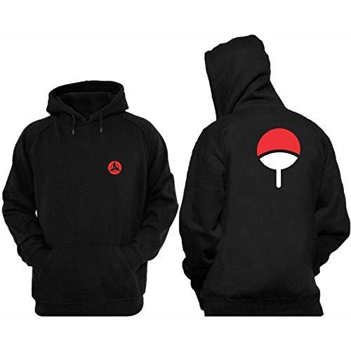 Moletom Unissex Blusa Casaco Naruto Com Capuz e Bolso (G, Preto)