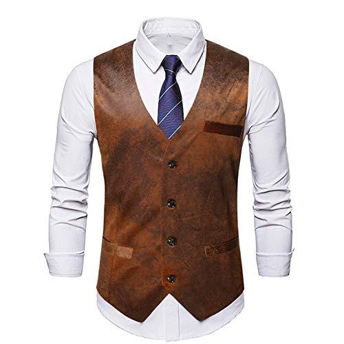 Chalecos formales para hombre delgados Chalecos de traje casual sin mangas formales chaquetas de negocios