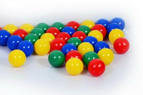100 Stück Bällebad Bälle 6cm in Kindergarten & Gewerbequalität Babybälle Plastikbälle ohne gefährliche Weichmacher