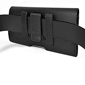 Wonderfly Holster for Samsung Galaxy S4 Active, S5, S5 Active, S5 Neo, S6, S6 Edge or S7, a Horizontal Leather Protective Carrying Case with Belt Clip and Belt Loops, Fits the Phone with a Thin Case
