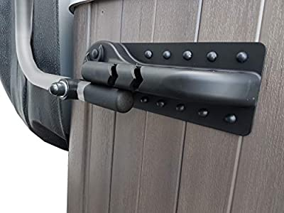 Puri Tech Cover Lifts Pivot Top Mount Spa & Hot Tub Cover Lift Removal System Reinforced Brackets Double Coated Aluminum Structure Fits Most Spas & Hot Tubs