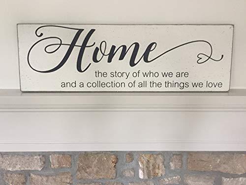 Ced454sy Home het verhaal van wie we zijn moderne boerderij decor 5 x 22 houten bord mantel decor
