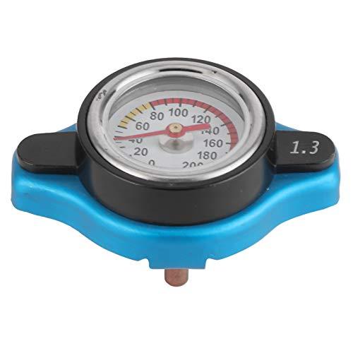 Thermostatischer Kühlerdeckel, universeller Thermostatischer Kühlerverschlussdeckel Kühlerdeckel Wassertankdeckel Auslaufsicher mit Temperaturanzeige(Kleiner Kopf 1.3par)