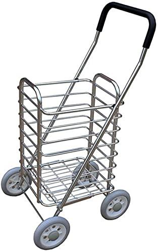 PFTHDE Lavandería Ligera Plegable del Mercado del Carro de la Movilidad de la Carretilla de Compras de 4 Ruedas