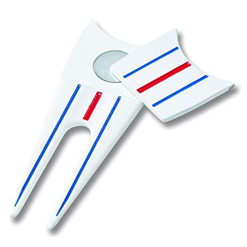 Callaway Golf Unisex 2021 Triple Track Divot Tool Golf Hat, Blanco, Azul y Rojo, Talla única