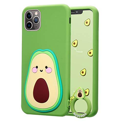 Coralogo for iPhone 12 Pro Max Silicone Case, Cute Cartoon Funny Kawaii 3D Design, Fashion Fun Cool Stylish Unique Designer Soft Cover, Women Girls Boys Girly Cases for iPhone 12 Pro Max 6.7' (Avocado