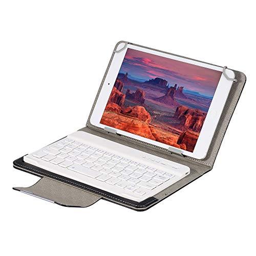 Mavis Laven Tastiera Bluetooth Senza Fili con Custodia, Tastiera Bluetooth Ultrasottile con Laptop Tablet da 7 Pollici Custodia Protettiva Universale PU per iOS per Windows per Android