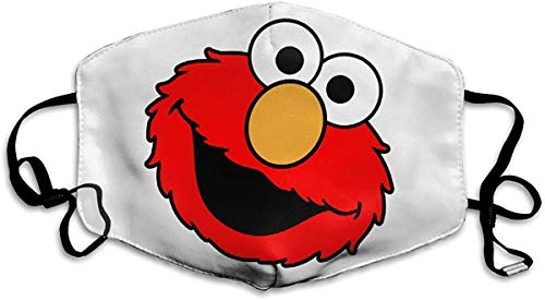 Unisex Reusable Nose Bandana Cover with Elmo's World Haze Balaclava Cover with Adjustable Earloops