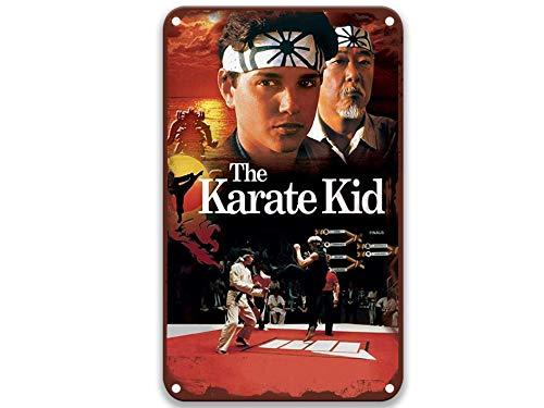 sfasf The Karate Kid 5, Vintage Movies Letrero de metal único para café y bar, decoración del hogar, decoración al aire libre, inodoro decorativo de 8 x 12 pulgadas