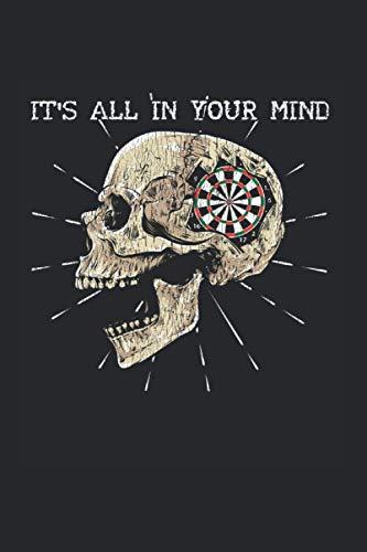 Your Mind: Darts Skelett Dartscheibe Schädeldarstellung Notizbuch DIN A5 120 Seiten für Notizen Zeichnungen Formeln | Organizer Schreibheft Planer Tagebuch