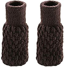 KYK 4Pcs Chair Leg Socks Cloth Gloves Floor Protection Knitting Socks Anti-Slip Table Furniture Feet Sleeve Cover Protecto...
