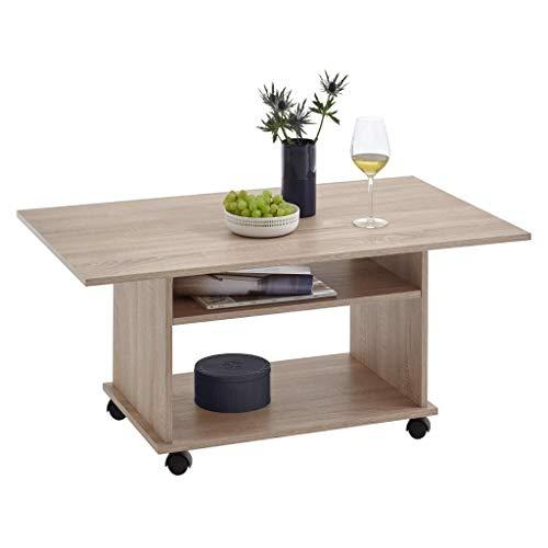FMD furniture Couchtisch, Holzwekstoff, Eiche Nb, ca. 100 x 60 x 44 cm
