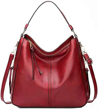 Liuy Handbags for Women Large Designer Ladies Hobo bag Bucket Purse Faux Leather
