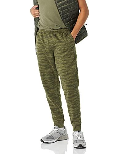 Amazon Essentials Fleece Jogger Pant Pantalones Casuales, Camuflaje Verde Abstracto, M