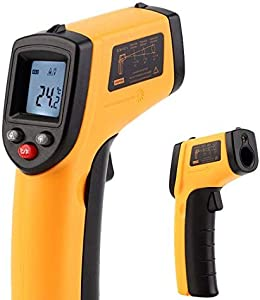Handheld Non-Contact Digital Laser Infrared Thermometer Temperature Gun -58  626  for Kitchen Cooking BBQ Automotive Industrial Accuracy Reading Backlit LCD Display