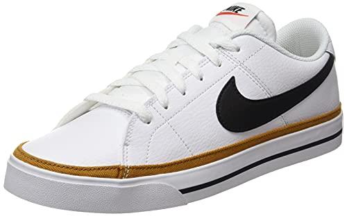 Nike Court Legacy, Zapatillas Deportivas Hombre, White Black Desert Ochre Gum Light Brown, 43 EU