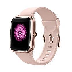 Smart Watch Fitness Tracker Fitness Armband mit herzfrequenz,SmartWatch IP68 Wasserdicht Fitness Uhr Voller Touchscreen mit Musiksteuerfunktion Schlafmonitor Uhren für Damen Herren Kinder