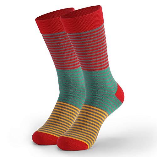 Marijee - Calcetines cortos de algodón, diseño clásico y antideslizante, color rojo