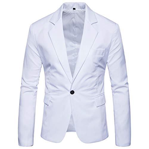 Men's Blazer Single Button Blazers Casual Solid Color Business Wedding Blazer Tops Classic Elegant Office Jackets Upscale Jacket Fashion Popular Gentlemen Outfit XL