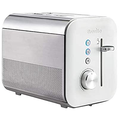 Breville VTT687 4 Slice High Gloss Toaster, White