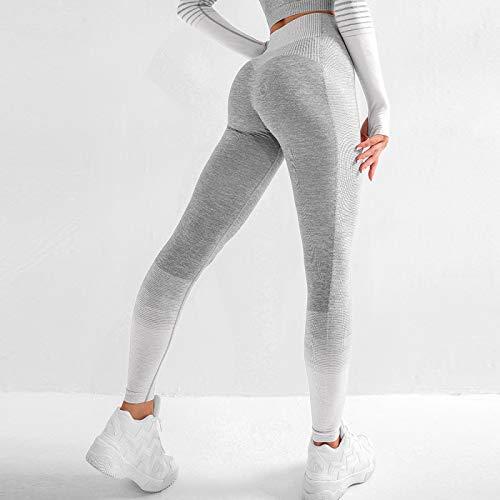 Leggings Casuales De MujerRopa Deportiva Leggins Sin Costuras para Mujer Moda A Rayas Leggings De Fitness para Mujer CIN