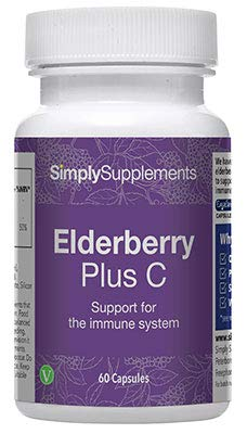 Elderberry Supplement with Vitamin C | 60 Capsules = Up to 2 Month Supply | High Strength Immune System Support