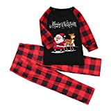 Sunnyuk Christmas Family Juego de Pijama a Juego Ropa de Dormir de Navidad de Cuerpo Entero Conjunto de Ropa de Dormir de algodón Pjs de Manga Larga para Mujeres Hombres Niños y niñas