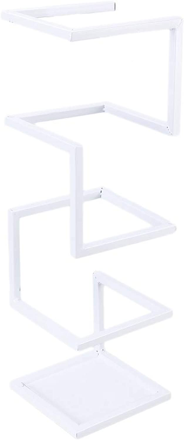 Umbrella Storage Creative Umbrella Stand Holder Metal Rack Organizer for Hallway Entryway Office White and Black in Standing Holder 6.9x6.9x24.8 in Umbrella seat (color   White)