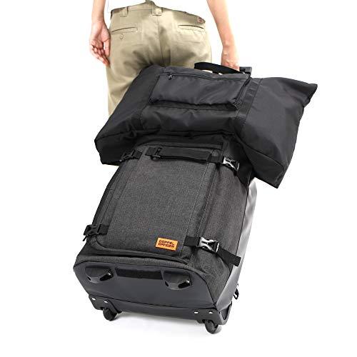 DOPPELGANGER(ドッペルギャンガー)フォルダブルスーツケース【本体容量40L】折りたためる2WAYバックパックソフトタイプ機内持込み可コインロッカー対応サイズアウターバッグ容量30Lメッシュインナーバッグx2付属DCB471-GY