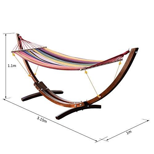 Outsunny Hamaca Tumbona 315x100x110cm Playa Camping