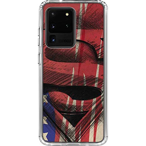 Skinit Clear Phone Case for Galaxy S20 Ultra 5G - Officially Licensed Warner Bros Superman Crest Design