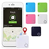 Aimado Key Finder Smart Tracker,Anti-Lost Theft Device Alarm Mini Bluetooth Wallet Key GPS Tracker for Kids Pet GPS Trackers White