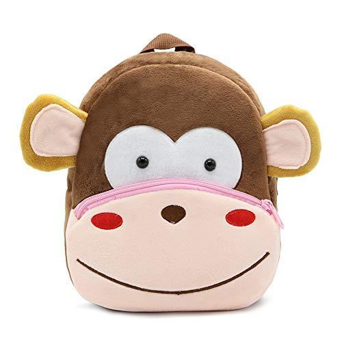 Schattige dieren Cartoon rugzak schooltas, voor peuter kinderen jongens meisjes, 2-5 jaar oud, perfect cadeau voor kinderen, kinderen, Unisex (aap)
