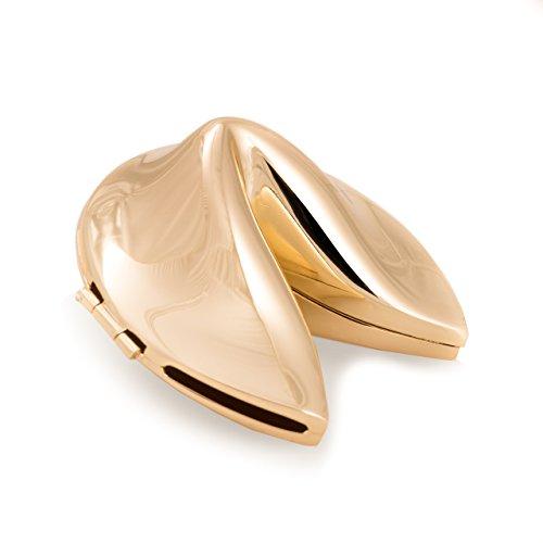 Bey-Berk Women's Fortune Cookie Box, Gold, One Size