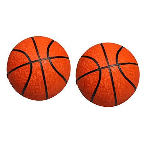 perfeclan 2X Mini Basketball Gummiball Kinder Spielzeug Junge Geschenk Ø 13cm