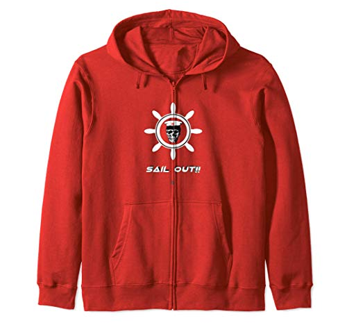 Captain Jet Skull - Sail Out Zip Hoodie